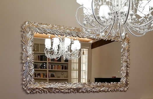 Mirror Frame by SPINI INTERNI. Handmade in Italy. Real silver leaf.