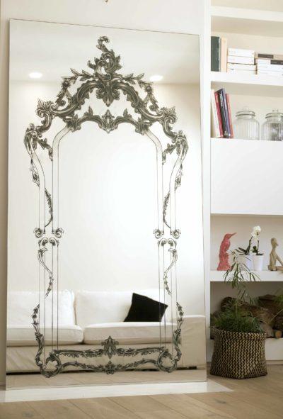 Specchiera decorata grandi dimensioni